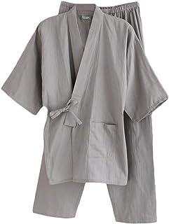 LiangZhu Bademantel Herren Japanische Yukata Pyjama Gesetzt