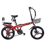 FUFU 16/20'Kinder im Freien, tragbares Fahrrad, Klapprahmen, geeignet für Jungen und Mädchen im...