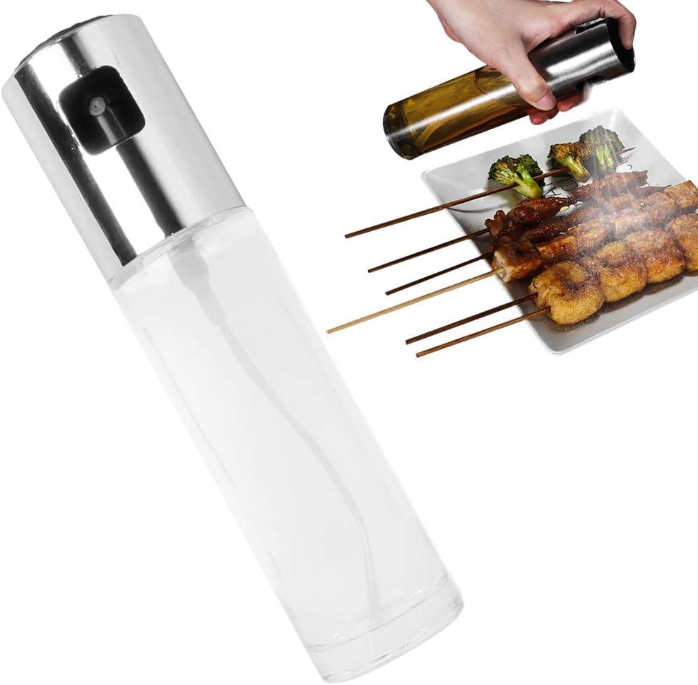 Olio Aceto Vetro Nebulizzatore Olio da Cucina Spruzzatore di Olio doliva Speyang Spruzzatore di Olio Spray Olio Aceto Cucina Olio Spray Cucina Bottiglia Argento Dosatore Olio e Aceto Spray