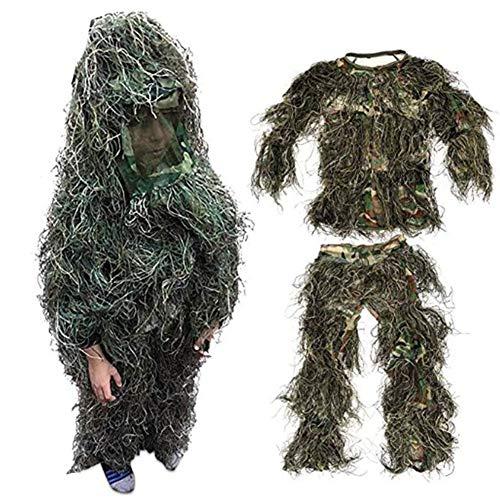 RANRANHOME Ghillie-Anzug - Das Ultimative in der Jagdtarnung, Camo-Ausrüstung für Scharfschützen, Jäger, Paintball & Airsoft, Kinder unter 10 Jahren