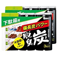 【まとめ買い】 脱臭炭 こわけ 下駄箱用 下駄箱 玄関 脱臭剤 (55g×3個入)×2個パック