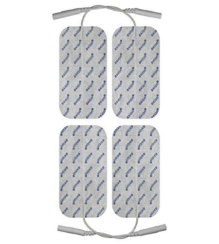 16 x Elektroden Pads, 8 * 10x5cm + 8 * 5x5cm. Selbstklebend, für TENS Gerät Reizstromgerät mit 2mm-Anschluss - 6