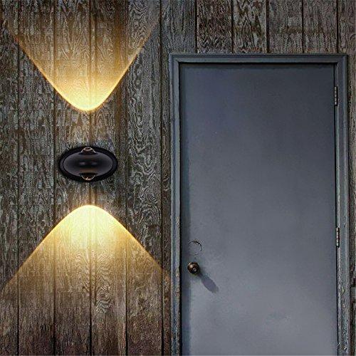 Amadoierly Lampe Murale d'extérieur LED Double tête de haut en bas de l'allée de jardin étanche éclairage créatif Simple /15x9cm,Lumière chaude