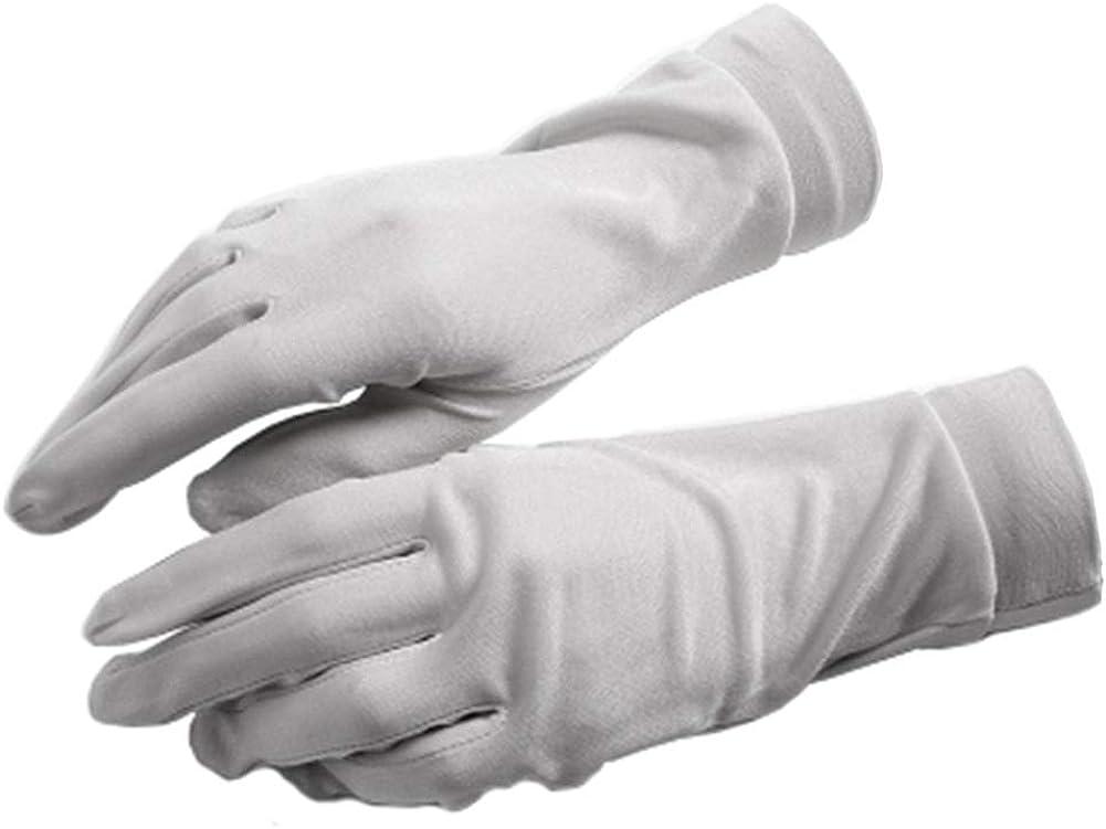 C.J.S. Women's 100% Mulberry Silk Short Gloves Liners Gloves Inner Lady's Gloves