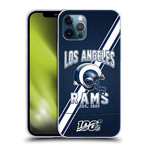 Offizielle NFL Football Streifen 100ste 2019/20 Los Angeles Rams Soft Gel Handyhülle Hülle Huelle kompatibel mit Apple iPhone 12 / iPhone 12 Pro