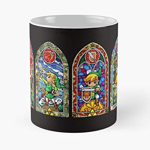 Desconocido Memories Zelda Retro Gaming Childhood Taza de café con Leche 11 oz