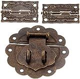 Antiguo Bronce Toggle Hostp Latch Hebilla y 2pcs Armario Decorativo Bisagra Hardware de Muebles Vintage for Joyería Caja de Madera