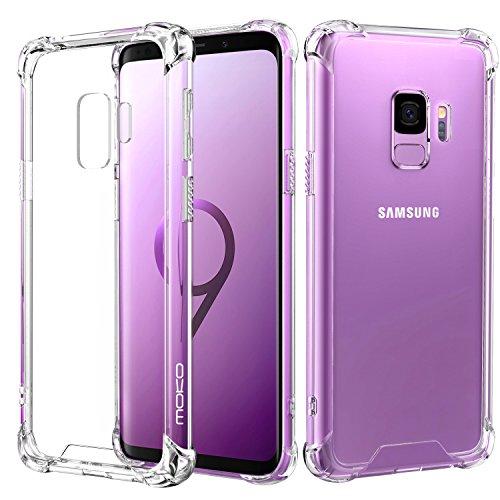 MoKo Samsung Galaxy S9 Funda - Delgado TPU Ligero del Gel Parachoques de Amortiguación rígido de la Contraportada Transparente Anti-arañazo Funda Protectora - Cristal Claro