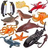HERSITY Animali Marini Giocattolo Figure Animali dell Oceano Realistici Creatura del Mare Giochi Bagnetto Borse da Festa Regalo per Neonato Bambini