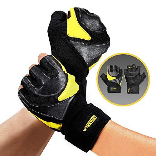 Trainingshandschuhe Kraftsport Fitness Handschuhe Männer Sporthandschuhe Gewichtheben Handschuhe - Handgelenkstütze für Damen und Herren Voller Handflächenschutz für Krafttraining, Gym Workout MEHRWEG