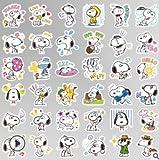 HUNSHA Etiqueta engomada de Snoopy de Dibujos Animados Anime Emoji Mochila de teléfono Etiqueta de Texto específica Etiqueta Impermeable al por Mayor 40 Piezas