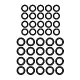 REFURBISHHOUSE Power Joints Toriques en Caoutchouc pour Nettoyeur Haute Pression pour Coupleur Rapide M22, Raccord Rapide M22, 1/4 Pouces, Paquet De 40