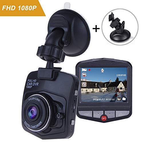 Dash Cam for Car-Mini Car Camera Dash Cam-Full HD Dash Cams 1080P-Dashboard Camera Recorder-Car Dvr Camera-With G-Sensor Loop Recording,Black(No SD Card)