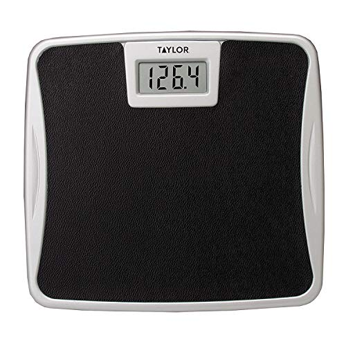 Taylor Precision Products Digital 330LB Capacity Bathroom Scale Black Non Slip Mat, Universal
