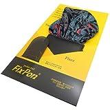 Fix Pon ポケットチーフ 丸型 ダークグレー レッド ブラック DSCF1676