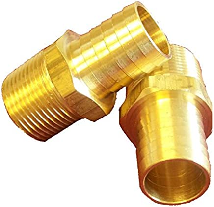 Campbell Fittings BM-0812 Barbed Hose Male 1//2 x 3//4 Brass 1//2 x 3//4 0.5 ID 0.5 ID