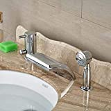<span class='highlight'>Kitchen</span> <span class='highlight'><span class='highlight'>Sink</span></span> <span class='highlight'><span class='highlight'>Taps</span></span> <span class='highlight'>Bathroom</span> <span class='highlight'><span class='highlight'>Sink</span></span> <span class='highlight'><span class='highlight'>Taps</span></span> Waterfall Spout Single Lever <span class='highlight'>Bathroom</span> Tub Faucet With Hand Sprayer Deck Mounted Chrome Brass
