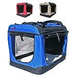 Hundetransportbox faltbar Transportbox für Hunde Hundebox Auto - Dogi Kennel - 6 Größen, 3 Farben (XXL (91 x 64 x64 cm), Blau)