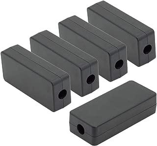 LeMotech 5Pcs ABS Plastic Electrical Project Case Power Junction Box, Project Box Black 2.36