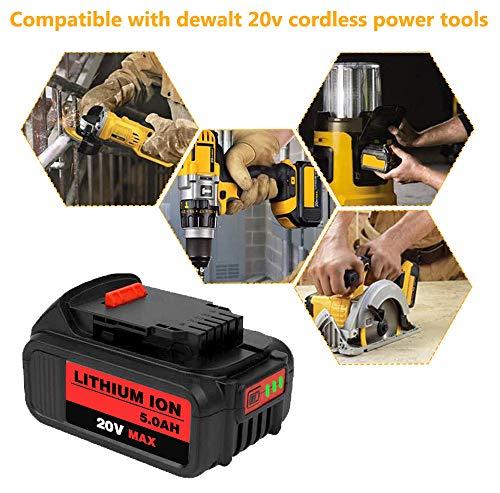 Product Image 6: 6Packs 20Volt 5.0Ah DCB204 DCB205 Replacement Battery for Dewalt 20V Battery Lithium XRP Compatible with DCB204 DCB205 DCB206 DCB205-2 DCB200 DCB180 DCD985B DCD771C2 DCS355D1 DCD790B