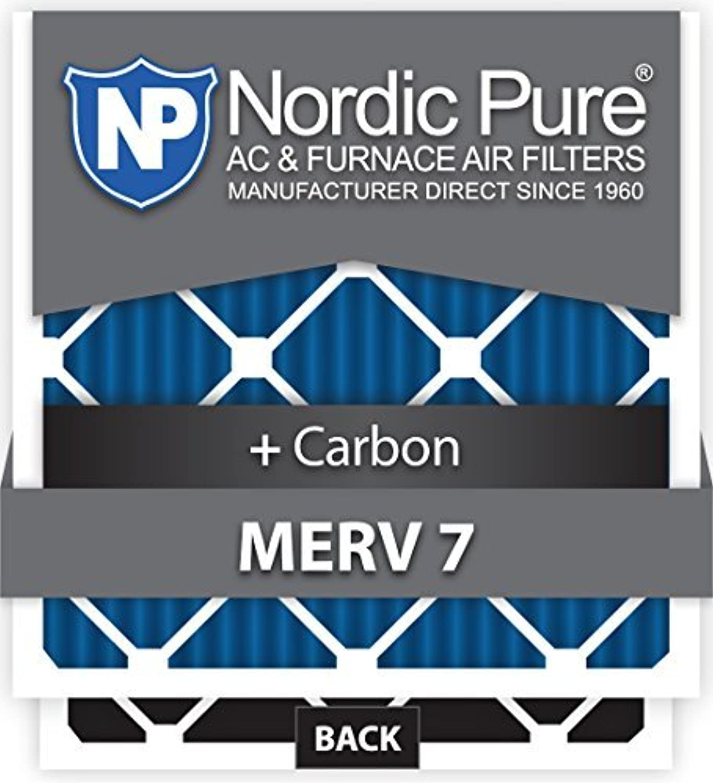 Nordic Pure 30x32x1ExactCustomM7+C-6 MERV 7 + Carbon AC Furnace Filters 6 Piece [並行輸入品]