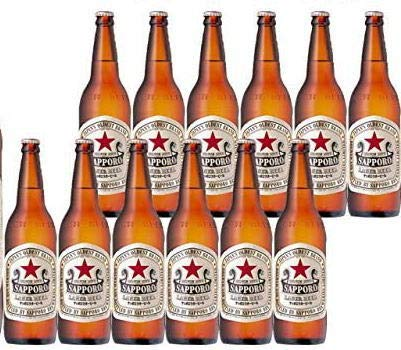 サッポロラガー 赤星 大瓶 633ml×12本 ダンボール発送