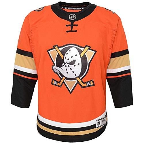 NHL Outerstuff Anaheim Ducks Premier Youth Trikot Third Orange (Kinder), S/M (YTH)