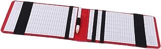 CUTICATE Golf Scorecard Holder and Yardage Book Cover + Golf Pencil - Deluxe PU Leather - 14.4
