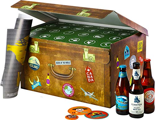 Coffret World Wide Beers - Pack 24 bières du monde - Idée Ca