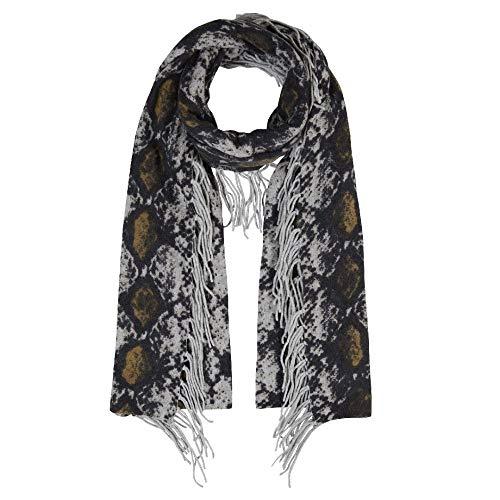 CODELLO dames ZICKZACK sjaal van wol met kasjmier camel 92108806