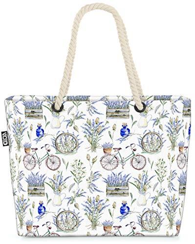 VOID Aquarell Provence Strandtasche Shopper 58x38x16cm 23L XXL Einkaufstasche Tasche Reisetasche Beach Bag
