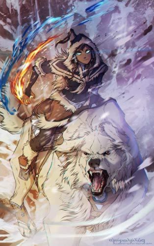 The Legend of Korra poster/Korra and Naga/Avatar Korra anime The Last Airbender
