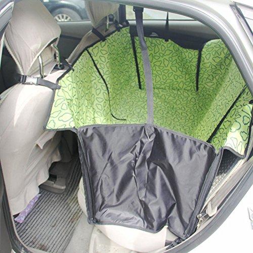 Seat étanche Car Cover Pet Dog Mat Voyage pour siège arrière, Nuage Vert