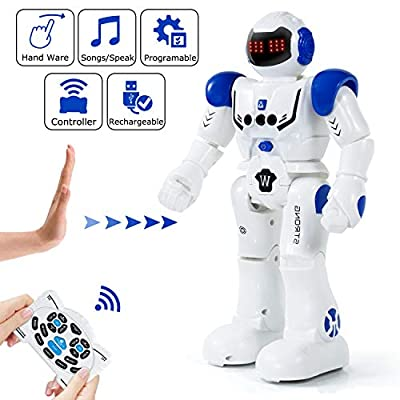 KINFAYV Smart Robot Toy - Remote Control Robot, RC Programmable Educational Robot for Kids Birthday Gift Present, Interactive Walking Singing Dancing Smart Intelligent Robotics for Kids
