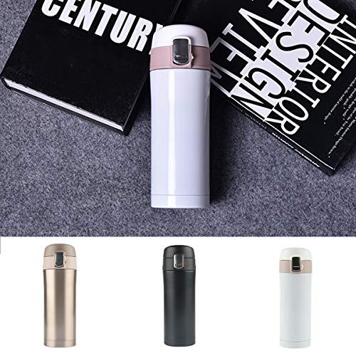 Josopa Draagbare Warmtebewaringsfles, Pop-Up Deksel Thermische Isolatie+Koude Isolatie Keeper Vacuüm Cup Fles voor Huishoudelijke Reizen