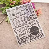 Welcome to Joyful Home 1PC Happy Birthday Background Embossing Folder for Card Making Floral DIY Plastic Scrapbooking Photo Album Card Paper DIY Craft Decoration Template Mold
