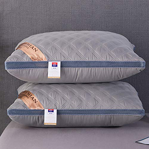 Hotel speciaal kussen, Super Support Pillow, Deep Sleep Bed Pillow en Dust Mite Resistant Washable Firm White, voor rug- en zijslapers,8,48 * 74 * 12CM