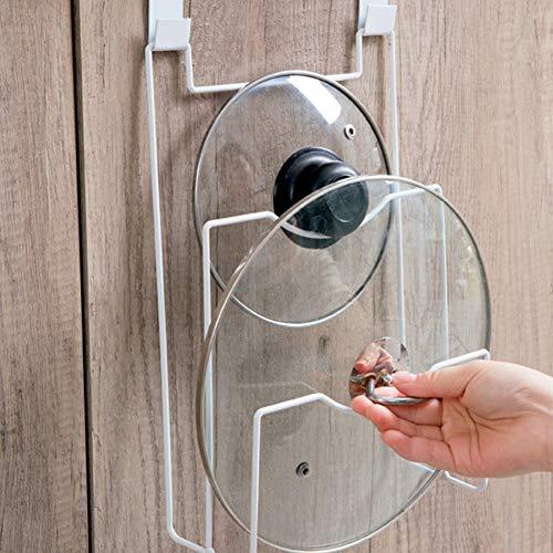 Soporte tapa ollas organizador pared puerta, versátil