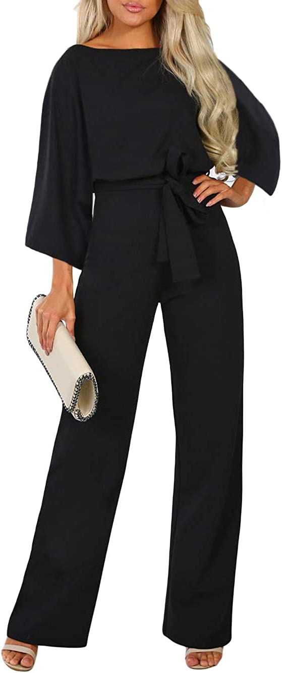 QUEENIE VISCONTI Women Beauty products Summer Wide Leg Jumpsuit Long Pa Max 63% OFF Casual -