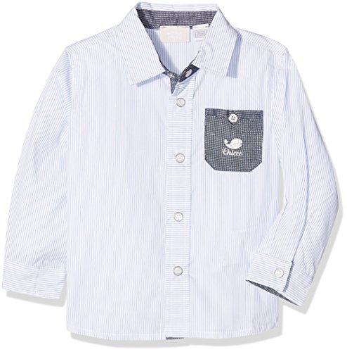 Chicco Chicco Baby-Jungen 9054344 Freizeithemd, Türkis (Bianco/blu), (Herstellergröße: 050)