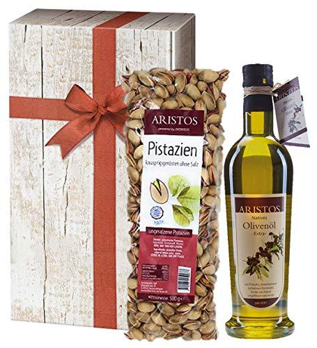 Geschenk-Set   Olivenöl Geschenk   Pistazien   ARISTOS (Olivenöl Pistazien)