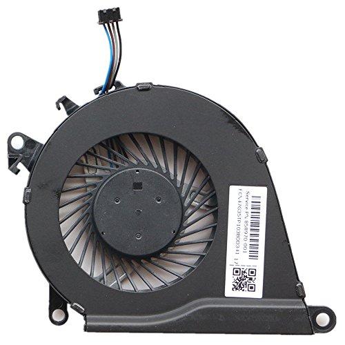 KBR - Ventilador de CPU de Repuesto Compatible con HP OMEN 15-AX 15-AX023TX 15-AX030TX 15-AX033DX 15-AX020TX 15-AX219TX 15-AX016TX 15-AX215TX Series P/N: 858970-001