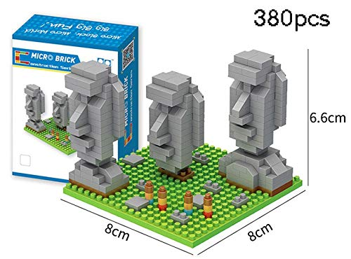 Zenghh World Heritage Easter Island Moai Model, Famous Landmark Micro 3D Crafts, Republic Of Chile City Blocks, Diamond Miniature Puzzle Tiles Toys, Child Teenager Adult Collectibles
