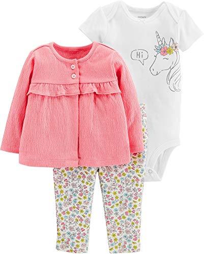 Carters Baby Girls 3-pc. Hi Unicorn Layette Set 12 Months Pink/White/Yellow