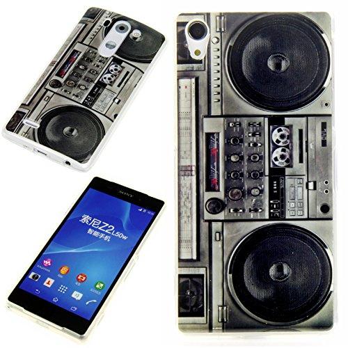 Handy Lux® Schutz Hülle Etui Silikon TPU Hülle Cover Design Motiv für Wiko Bloom - Blaster Radio