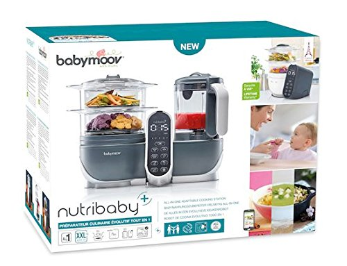 Babymoov Nutribaby Plus industrial grey – Babynahrungszubereiter, schonendes Dampfgaren, Mixen, Sterilisieren, Aufwärmen, 2200ml Fassungsvermögen - 7