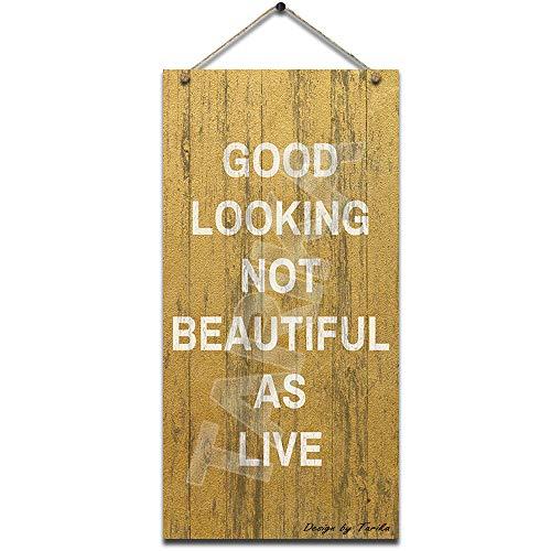 Letrero de pintura con buen aspecto, no hermoso como vivo, para decoración de pared, cocina, baño, granja, jardín, garaje, madera