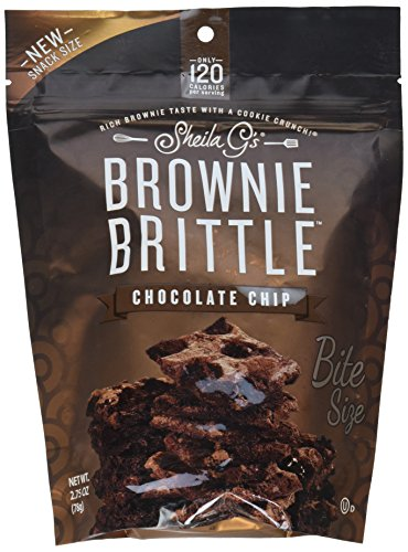 Sheila G's Brownie Brittle, Chocolate Chip, 2.75 Ounce Bag (Pack of 8) (Packaging May Vary)