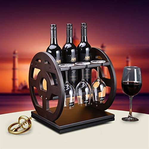 GQQG Estante de Vino Madera, Wine Rack Wood, Estante para Botellas de Vino – Botelleros de Madera para Vino u Otras Bebidas –...