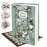 'vacía XXL libro–Verde de para recetas de cocina incluye 35pegatinas